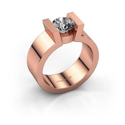 Verlovingsring Lieve 1 375 rosé goud diamant 1.00 crt