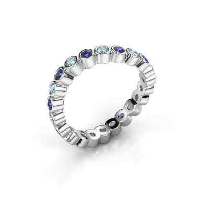 Ring Liz 925 zilver saffier 2 mm