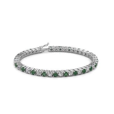 Bild von Tennis Armband Karin 375 Weißgold Smaragd 4 mm