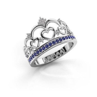 Ring Kroon 2 925 Silber Saphir 1.2 mm