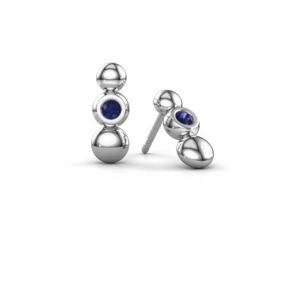 Picture of Earrings Lily 925 silver sapphire 2.5 mm