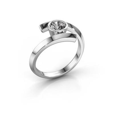 Bague Mara 585 or blanc diamant synthétique 0.50 crt
