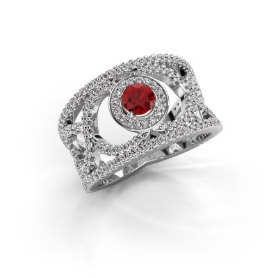 Picture of Ring Regina 585 white gold ruby 4.2 mm