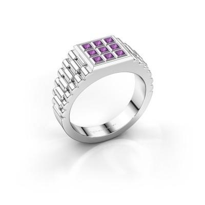 Foto van Rolex stijl ring Chavez 925 zilver amethist 2 mm
