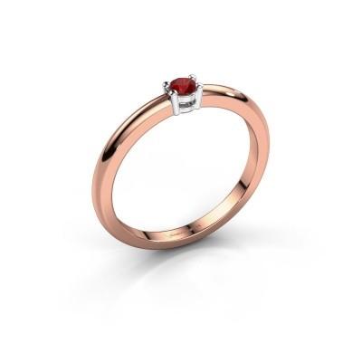 Foto van Verlovingsring Michelle 1 585 rosé goud robijn 2.7 mm