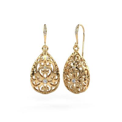 Bild von Ohrhänger Idalia 2 585 Gold Diamant 0.105 crt