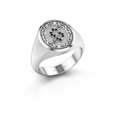 Foto van Heren ring Ruan 925 zilver zwarte diamant 0.06 crt