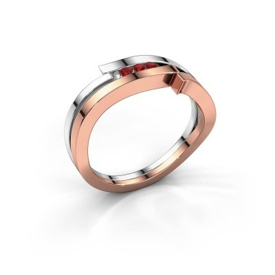 Ring Amelie 585 rose gold ruby 1.7 mm