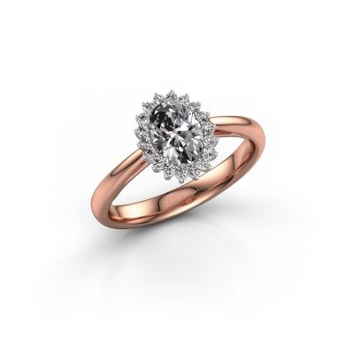 Foto van Verlovingsring Tilly 1 585 rosé goud diamant 0.935 crt