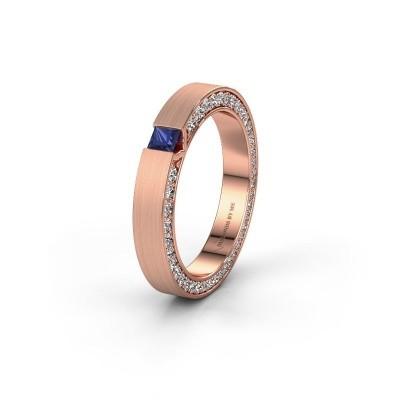Wedding ring WH2140L14B 375 rose gold sapphire ±3,5x2 mm