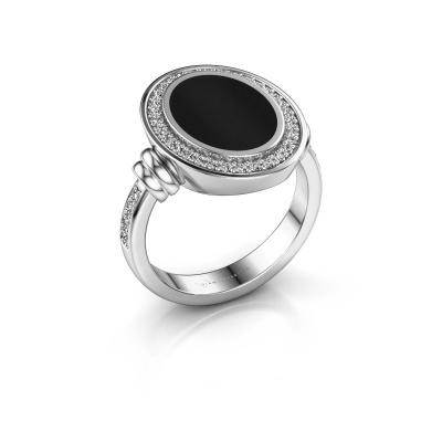 Foto van Heren ring Servie 3 925 zilver onyx 14x10 mm