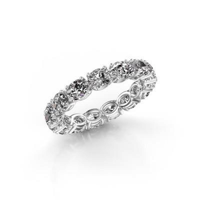 Foto van Ring Vivienne OVL 4.5x3.5 585 witgoud diamant 3.15 crt