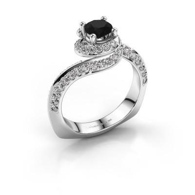 Verlovingsring Sienna 585 witgoud zwarte diamant 1.321 crt
