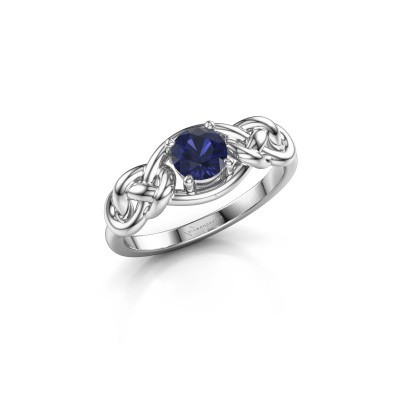Picture of Ring Zoe 925 silver sapphire 5 mm