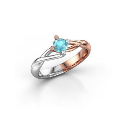 Picture of Ring Paulien 585 rose gold blue topaz 4.2 mm