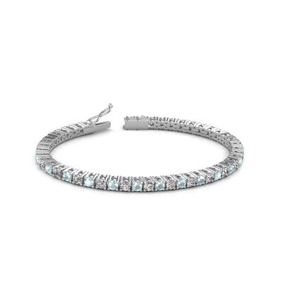 Photo de Bracelet tennis Jenny 585 or blanc diamant synthétique 4.32 crt