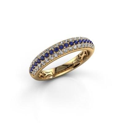 Foto van Ring Emely 4 375 goud saffier 1.4 mm