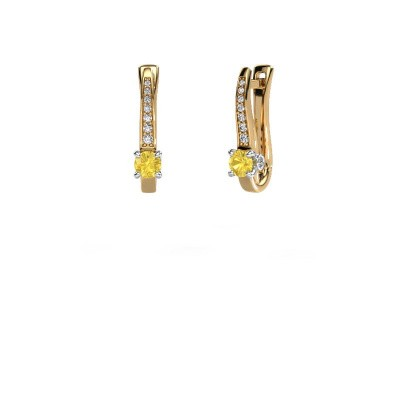 Ohrringe Valorie 585 Gold Gelb Saphir 4 mm