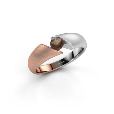 Foto van Ring Hojalien 1 585 rosé goud rookkwarts 4.2 mm