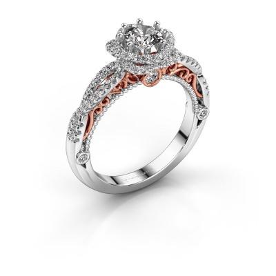 Bild von Verlobungsring Lysanne 585 Weißgold Diamant 0.95 crt