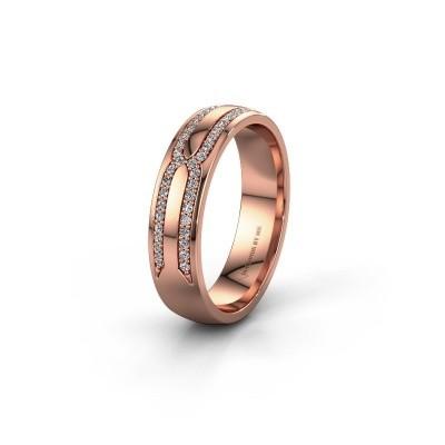 Wedding ring WH2212L25AP 585 rose gold diamond ±5x1.7 mm
