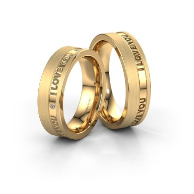 Picture of Wedding rings set WH2076LM16CM ±0.24x0.09in 14 Carat gold diamond 0.008 crt