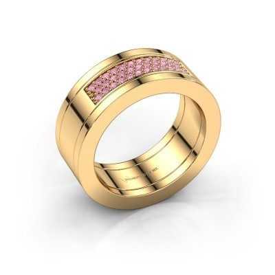 Foto van Ring Marita 1 585 goud roze saffier 1.1 mm