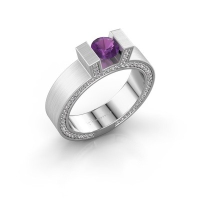 Picture of Ring Leena 2 585 white gold amethyst 5 mm