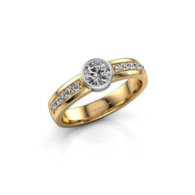 Aanzoeksring Ise 2 585 goud diamant 0.60 crt
