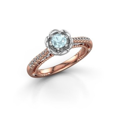 Picture of Engagement ring Abbey 585 rose gold aquamarine 4.2 mm