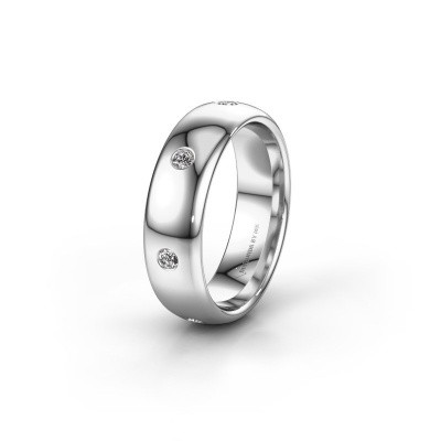 Wedding ring WH0105L36BP 925 silver zirconia ±6x2 mm