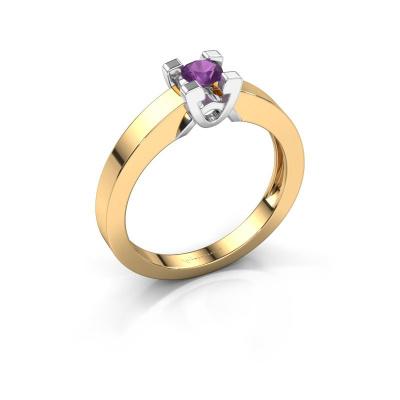 Verlovingsring Nina 1 585 goud amethist 3.7 mm