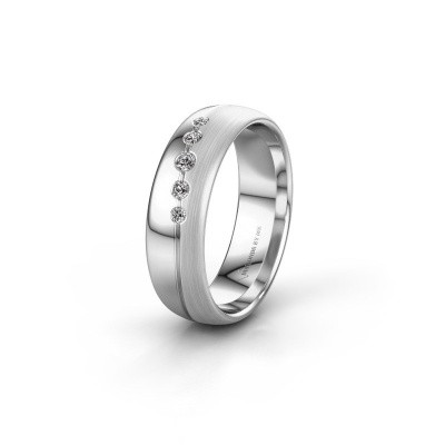Picture of Wedding ring WH0925L36APM 585 white gold zirconia ±6x1.7 mm