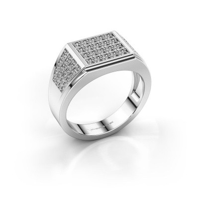 Foto van Heren ring Tim 585 witgoud zirkonia 1.5 mm