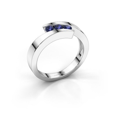 Foto van Ring Gracia 585 witgoud saffier 2.7 mm