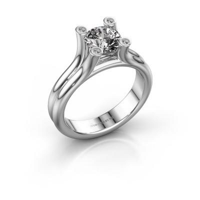 Engagement ring Stefanie 1 375 white gold diamond 1.00 crt