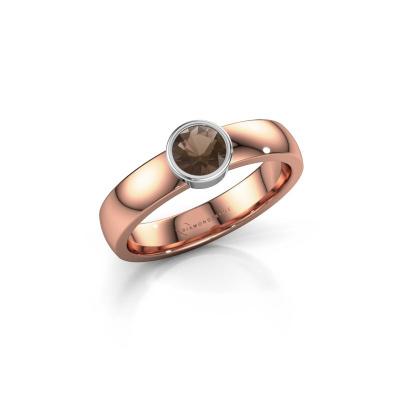 Foto van Ring Ise 1 585 rosé goud rookkwarts 4.7 mm