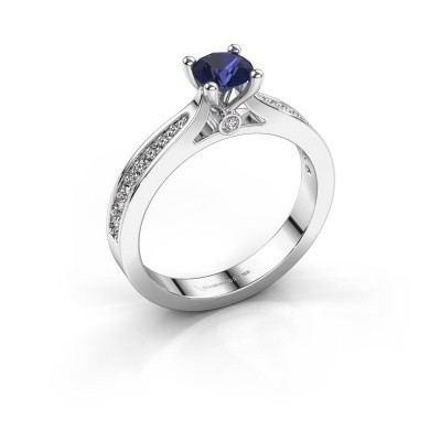 Picture of Engagement ring Evelien 925 silver sapphire 5 mm