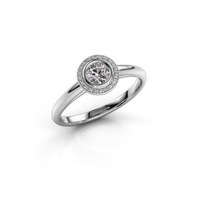 Promise ring Noud 1 RND 585 witgoud diamant 0.35 crt