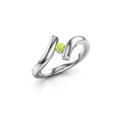 Picture of Ring Amy 950 platinum peridot 3 mm