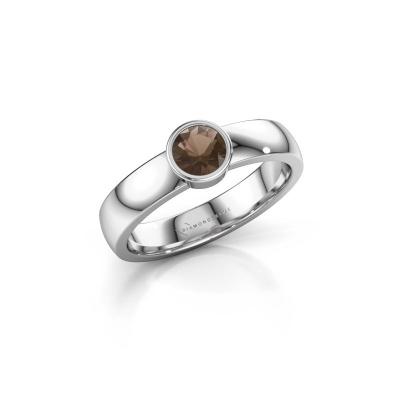 Foto van Ring Ise 1 950 platina rookkwarts 4.7 mm