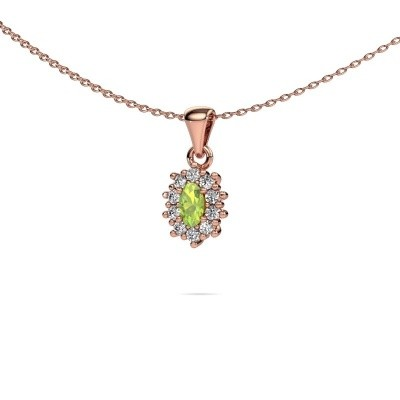 Picture of Necklace Leesa 375 rose gold peridot 7x5 mm