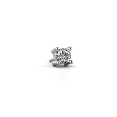 Foto van Heren oorbel Tijmen 950 platina diamant 0.40 crt