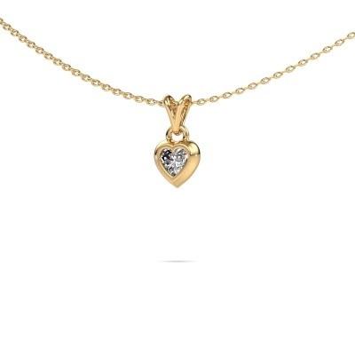 Foto van Hanger Charlotte Heart 585 goud zirkonia 4 mm
