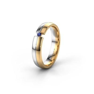 Trouwring WH0254L24X 585 goud saffier ±4x1.5 mm
