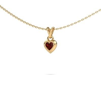 Foto van Hanger Charlotte Heart 585 goud granaat 4 mm