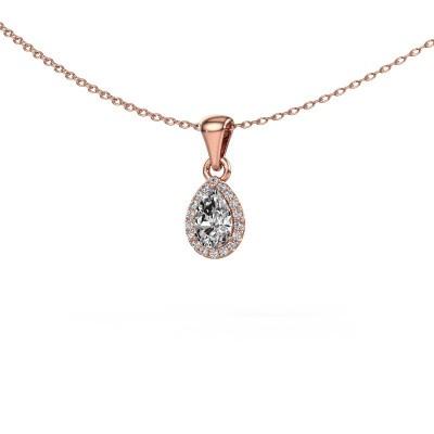 Halskette Seline per 375 Roségold Lab-grown Diamant 0.45 crt