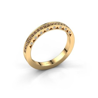 Ring Yasmine 375 Gold Braun Diamant 0.245 crt