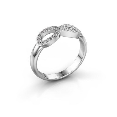 Foto van Ring Infinity 2 585 witgoud lab-grown diamant 0.188 crt