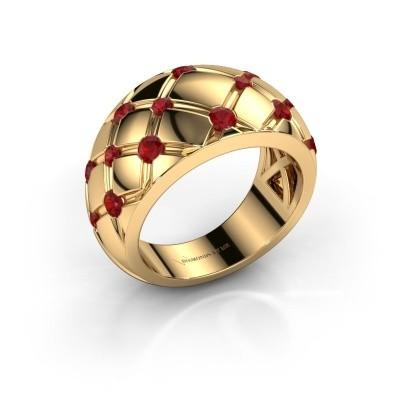 Ring Imke 375 Gold Rubin 2.5 mm